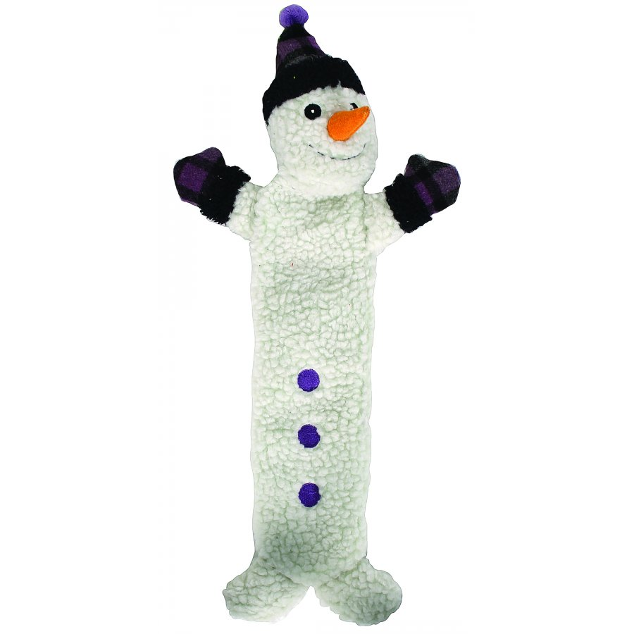 Holiday Long And Lovely Snowman Dog Toy - Medium
