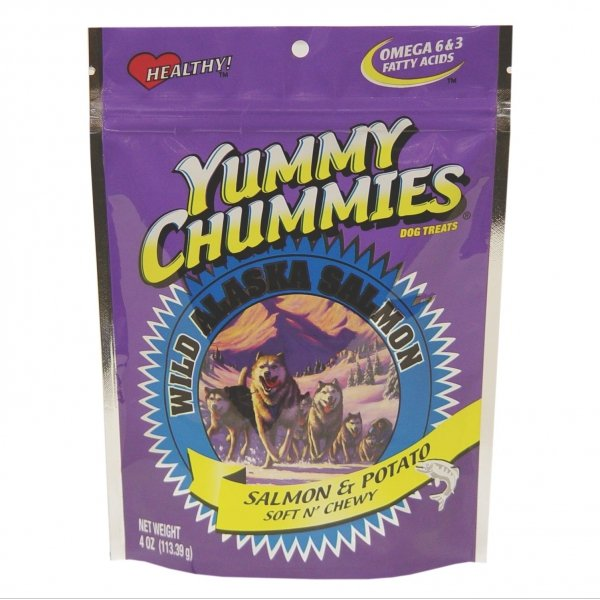 Yummy Chummies Salmon Dog Treat Potato Soft N Chewy 4 Oz.
