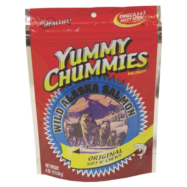 Yummy Chummies Salmon Dog Treat Salmon Jerky 4 Oz.