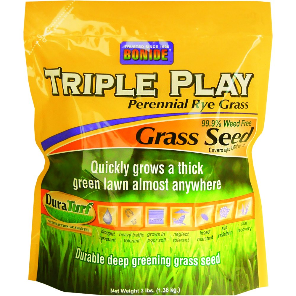 Triple Play Rye Grass Seed / Size (3 lbs) Best Price