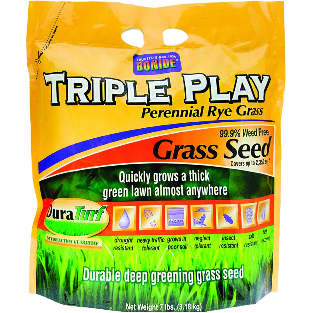 Triple Play Rye Grass Seed / Size (7 lbs) Best Price