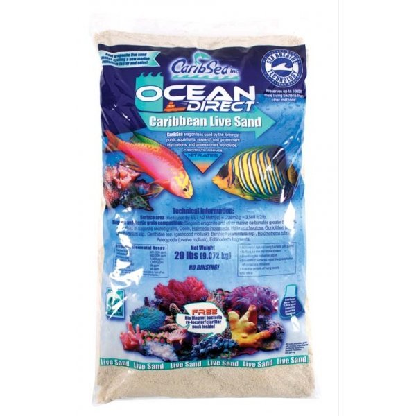 Ocean Direct Natural Live Sand 20 lbs ea. (Case of 2) Best Price