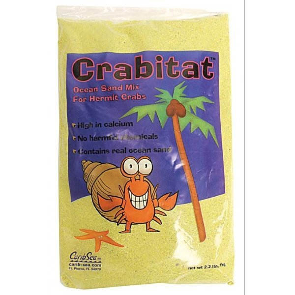 Crabitat Hermit Crab Sand 2.2 Lbs / Color Yellow