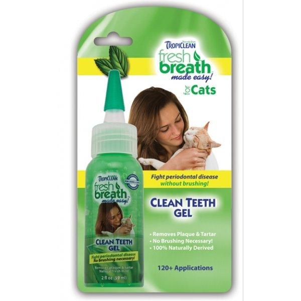 Fresh Breath Clean Teeth Gel For Cats 2 Oz.