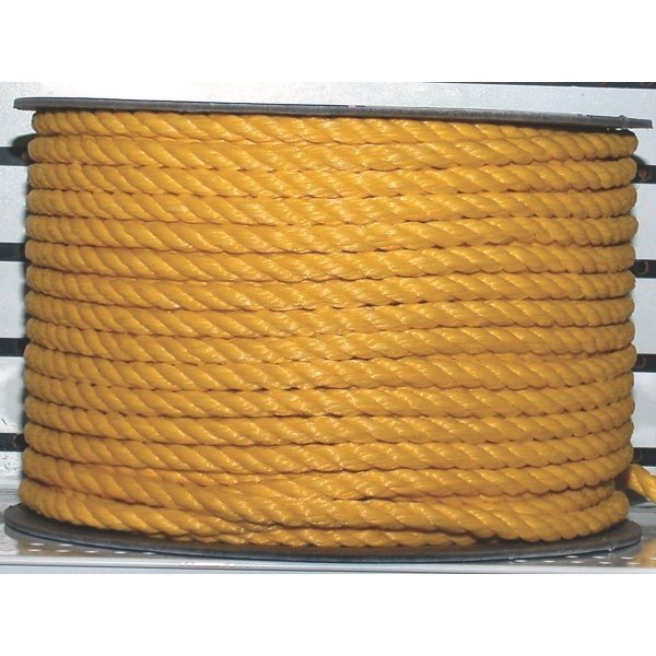 Yellow Twisted Polypropylene Rope 300 ft. Best Price