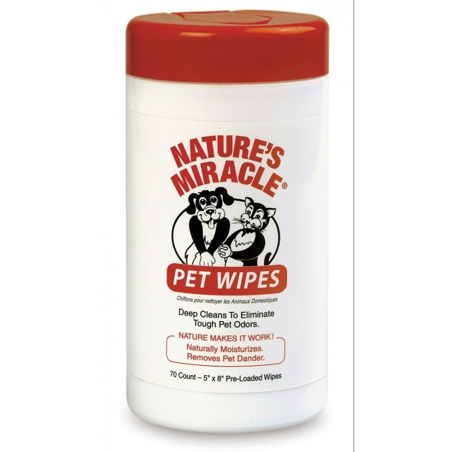 Natures Miracle Pet Wipes 70 Pk.