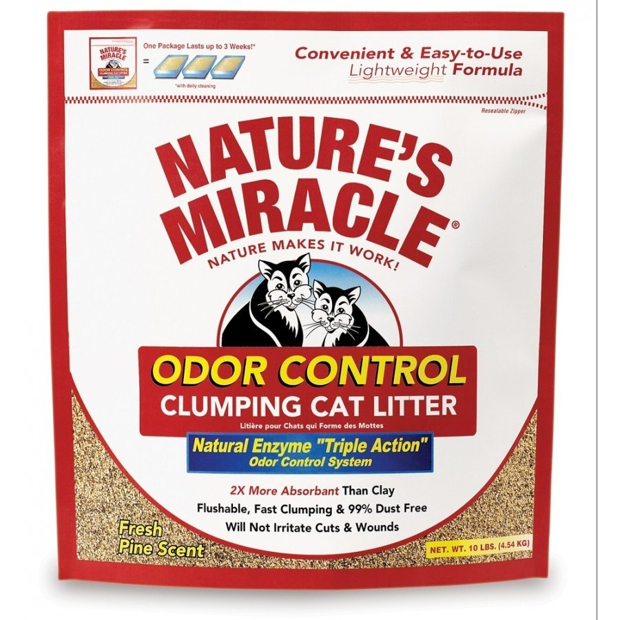Natures Miracle Odor Control Clumping Litter 10 Lbs