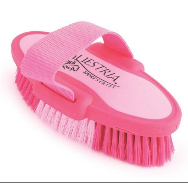 Equestria Sport Oval Body Brush for Horses / Type (Pink/Small) Best Price