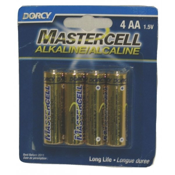 Mastercell Alkaline AA Batteries - 4 Per Card Best Price
