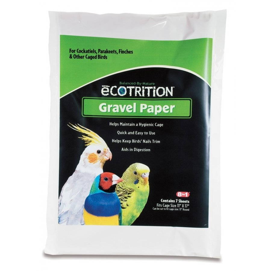 8 In 1 Avian Gravel Paper For Bird Cages / Size 11 X 17 In.
