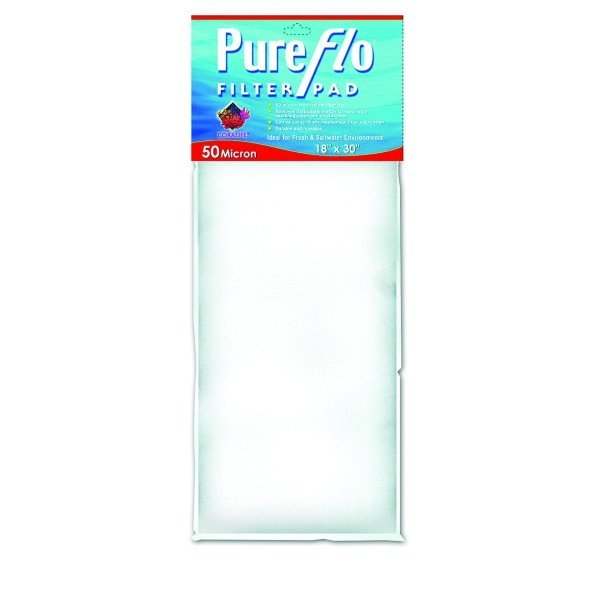 Coralife Pure-Flo Filter Pads / Size (50 Micron / 18 x 30 in.) Best Price