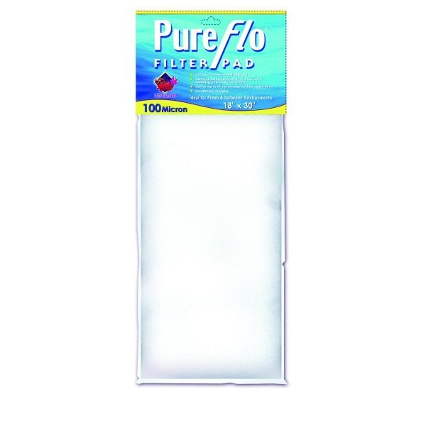 Coralife Pure Flo Filter Pads / Size 100 Micron / 18 X 30 In.