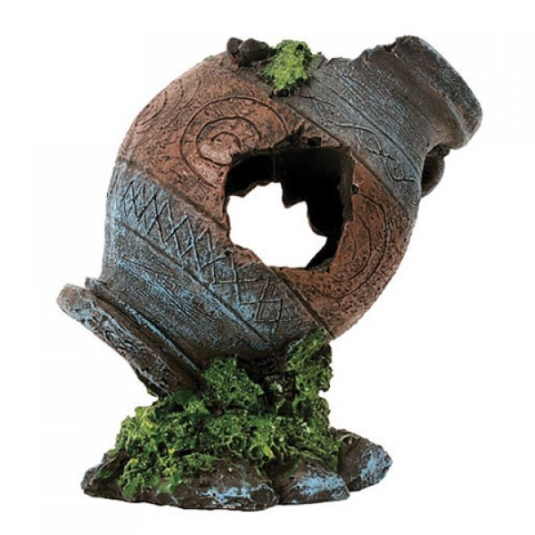 Design Elements Ancient Urn Aquarium Ornament Best Price