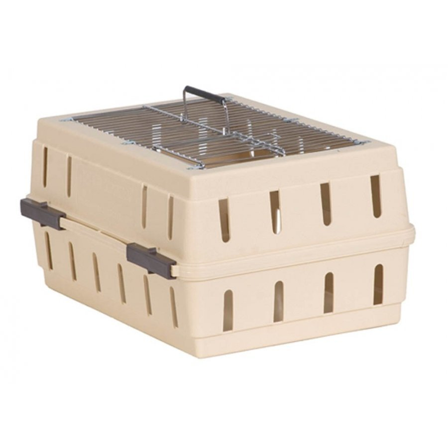 Cabin Kennel for Pets with Wire Top Crate