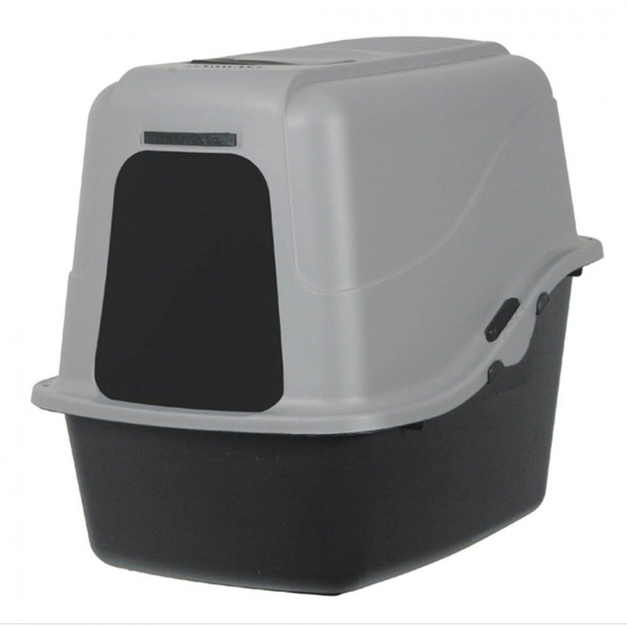 Black Hooded Litter Pan Large