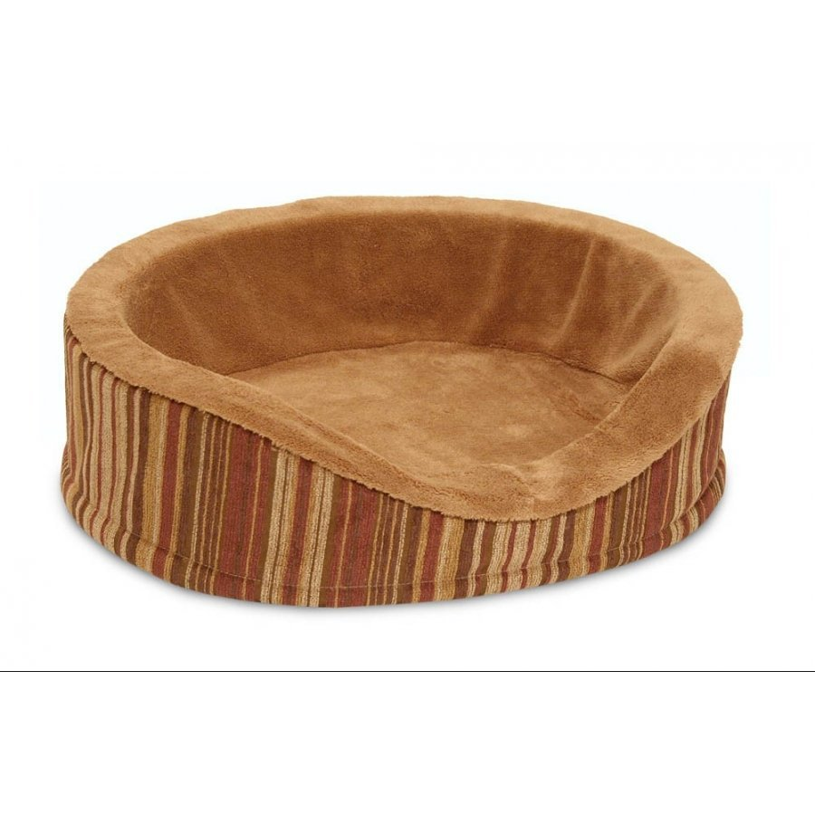 Deluxe Oval Pet Lounger With Microban 18 In.