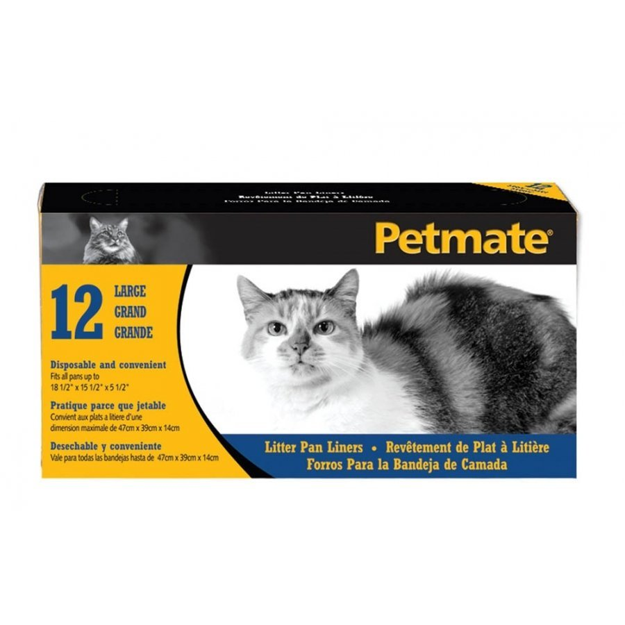 Petmate Cat Pan Liners / Size Large