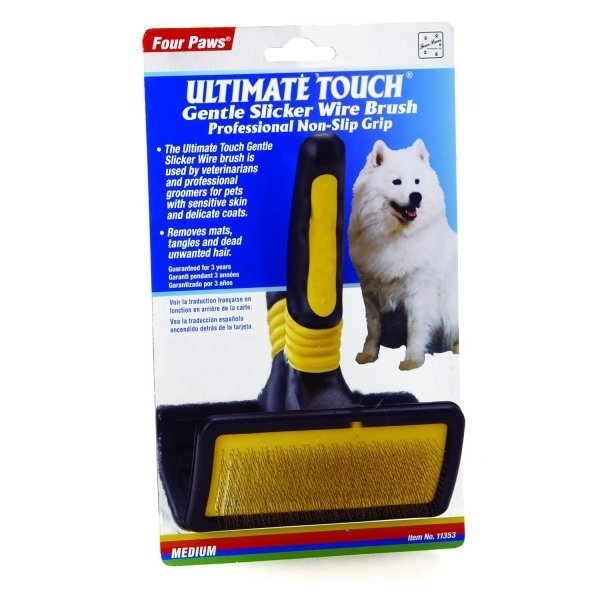 Four Paws Ultimate Touch Slicker Wire Brush / Size Medium