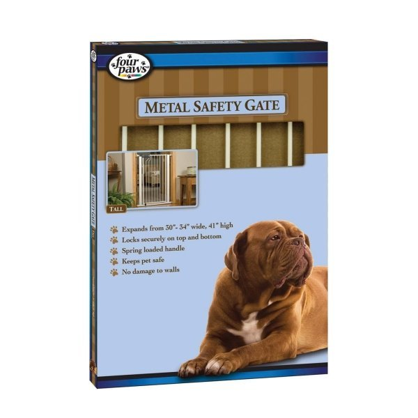 Metal Walk Thru Dog Gate / Height (30 in.) Best Price