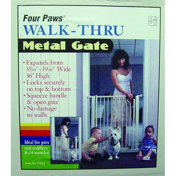 Metal Walk Thru Dog Gate / Height (36 in.) Best Price
