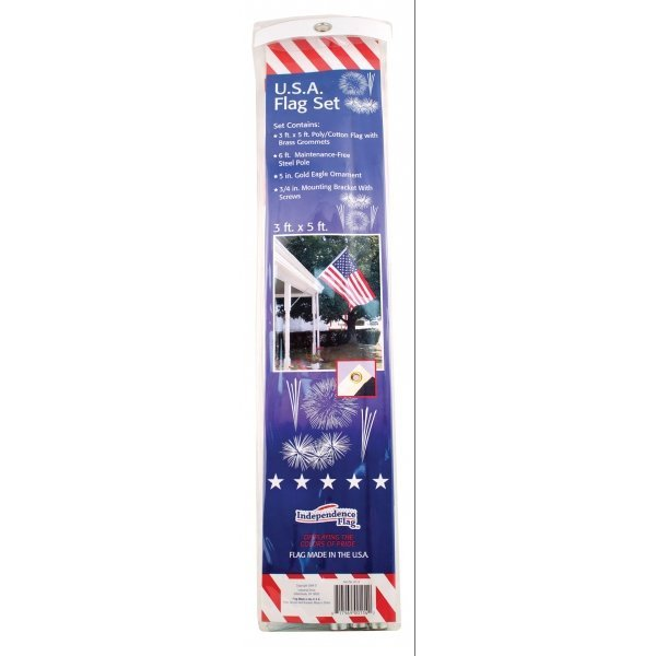 Poly Cotton United States Flag - 6 ft pole Best Price