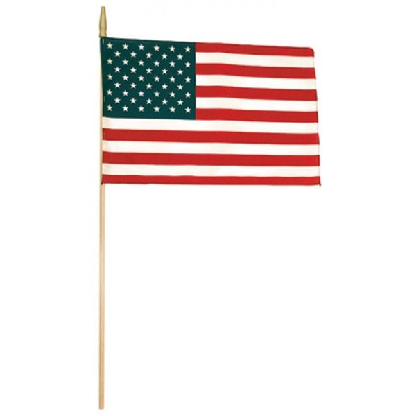 United States Hand Flag Sewn - 12 x 18 in. Best Price