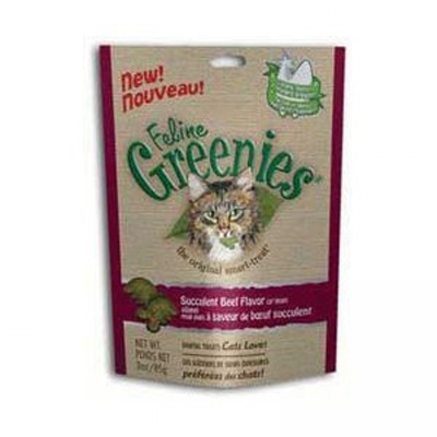 Feline Greenies Cat Dental Treats 3 oz. / Flavor (Beef) Best Price