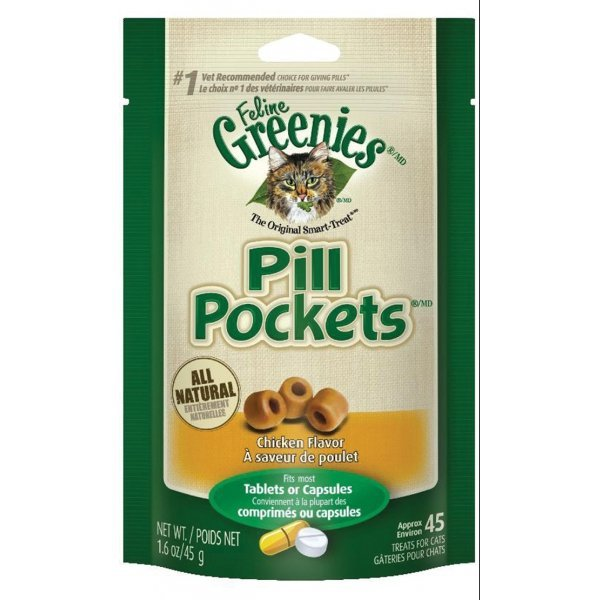 Greenie Pill Pockets for Cats 1.6 oz / Flavor (Chicken) Best Price