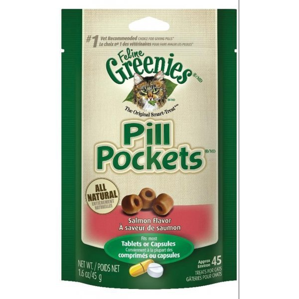 Greenie Pill Pockets for Cats 1.6 oz / Flavor (Salmon) Best Price