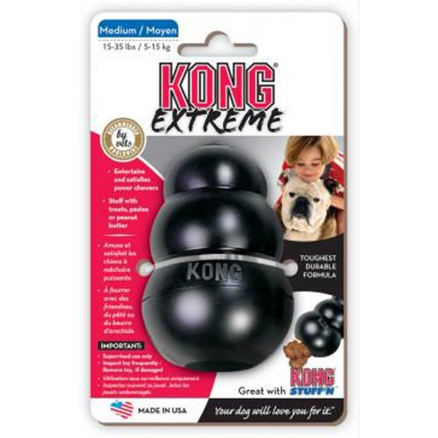 X Treme Medium Black Kong Dog Toy