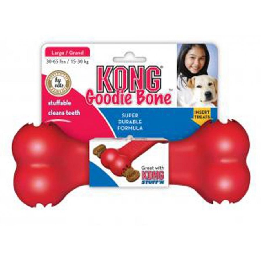 Kong Red Goodie Bone Dog Treat Toy / Size (Large)