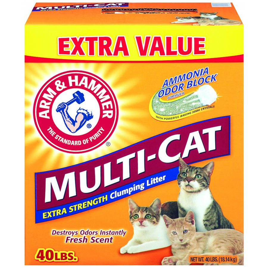 Arm And Hammer Multicat Clumping Litter / Size 40 Lb