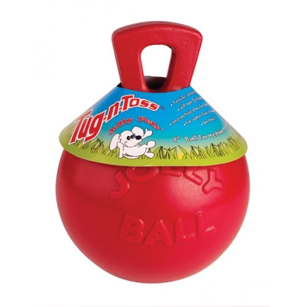 Tug N Toss Ball For Dogs / Size Red 8 In.