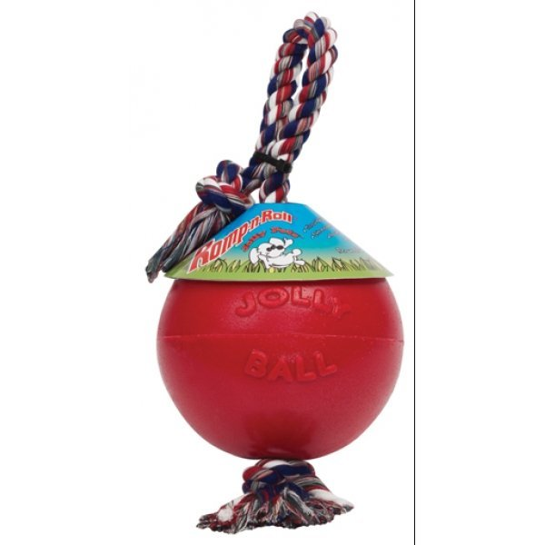 Romp N Roll Ball For Dogs / Size 8 In. / Red