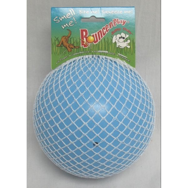 Dog Bounce N Play Vanilla Ball / Color Blueberry/6 In.
