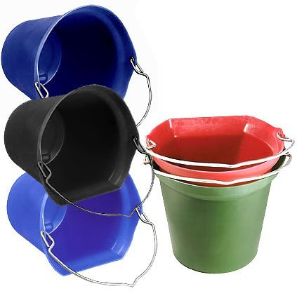 Flatback 20 Qt. Bucket  / Color (Black) Best Price