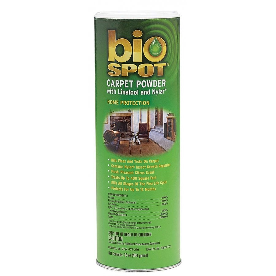 Bio Spot Carpet Powder With Linalool And Nylar 12 Oz.