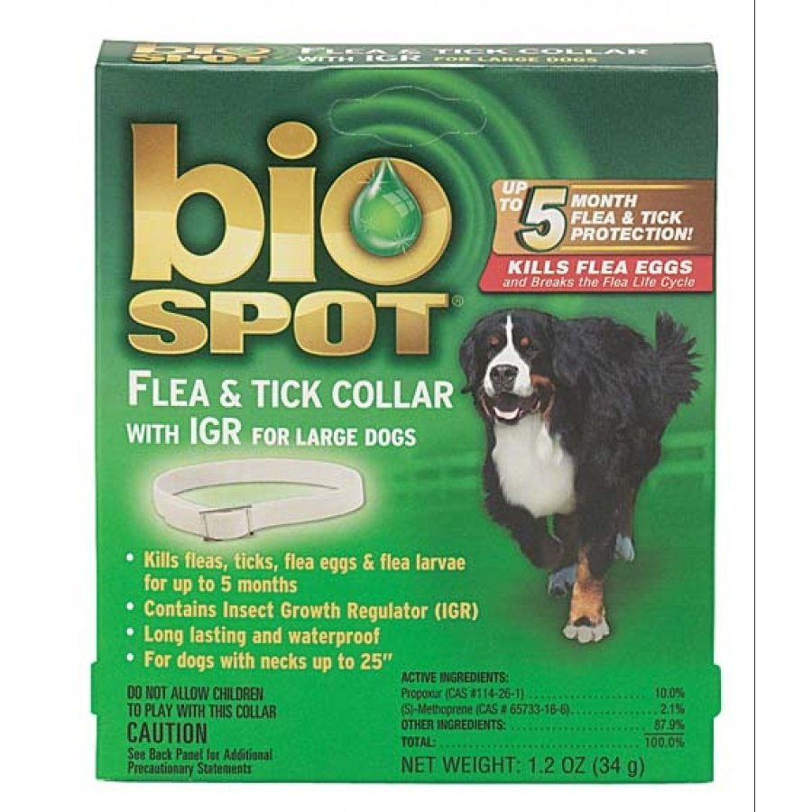 Biospot Flea And Tick Collar For Dogs / Size Large