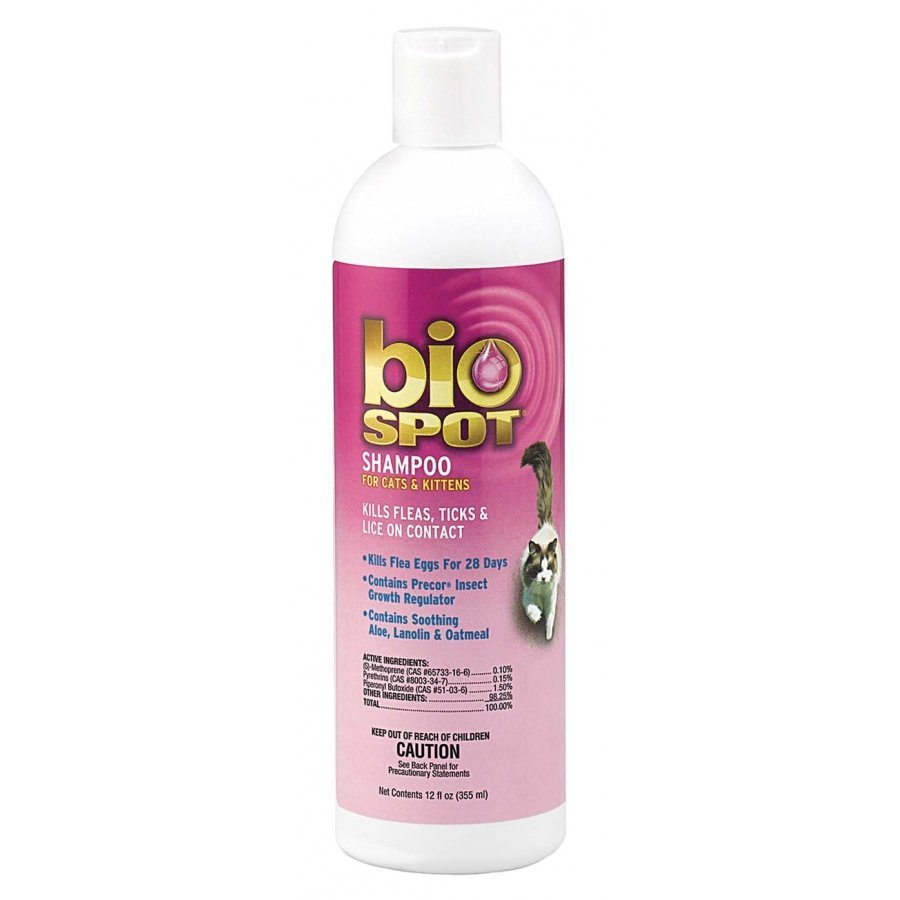 Biospot Flea And Tick Shampoo For Cats 12 Oz.