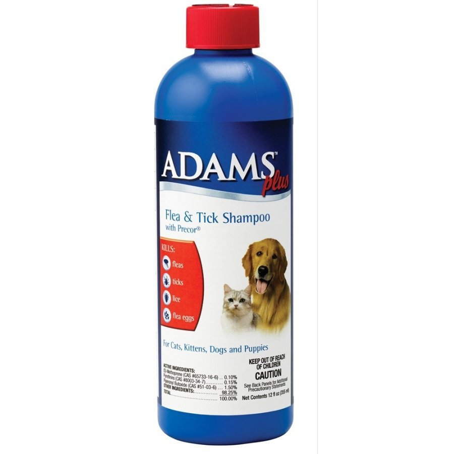 Adams Plus Flea Tick Shampoo With Igr 12 Oz.
