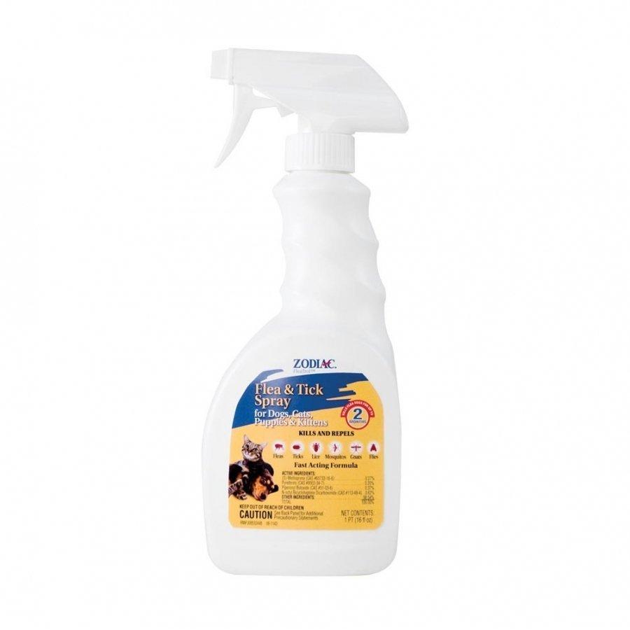 Zodiac Fleatrol Power Spray Flea Tick Spray 16 Oz