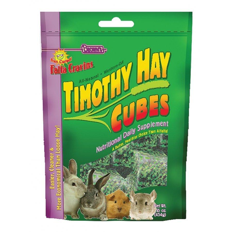 Falfa Cravins Timothy Hay Cubes Small Animal Food 16 Oz.