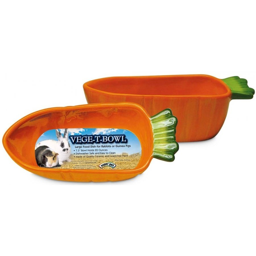 Vege T Bowl Orange Carrot For Small Pets