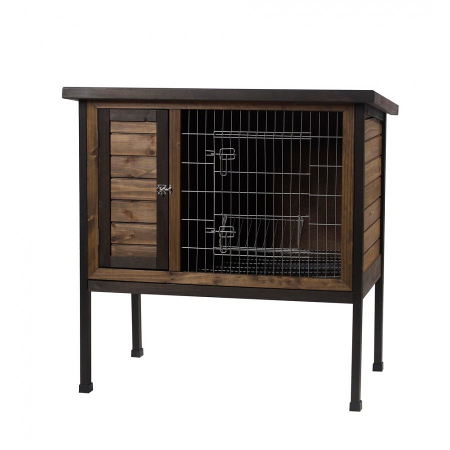 Wood Outdoor 1 Story Rabbit Hutch 36 In.