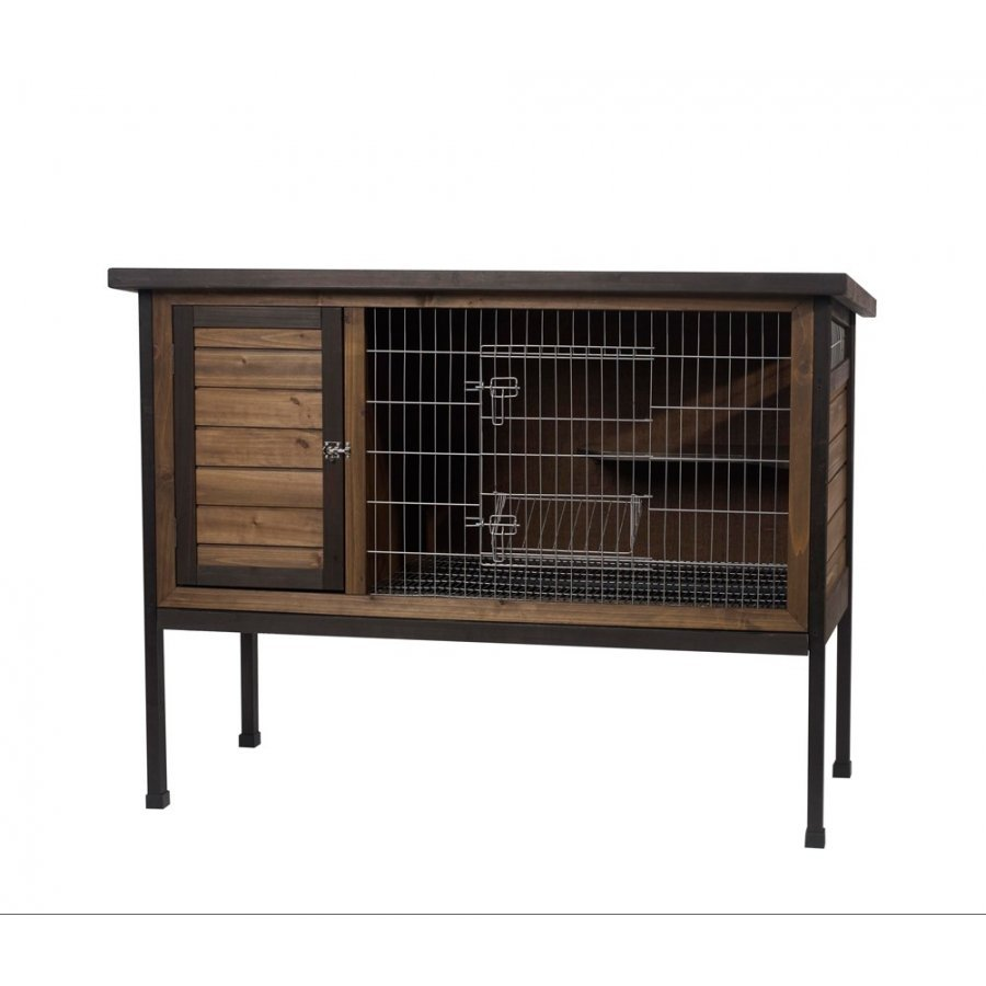 Wood Outdoor 1 Story Rabbit Hutch Large 48 In.