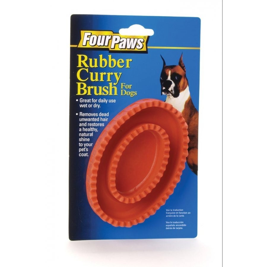 Rubber Curry Brush For Pets Four Paws