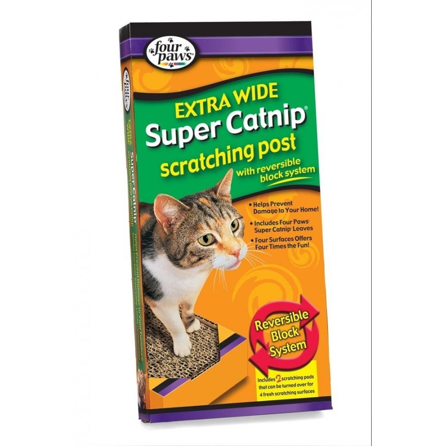 Four Paws Catnip Scratching Post / Width 10 In.