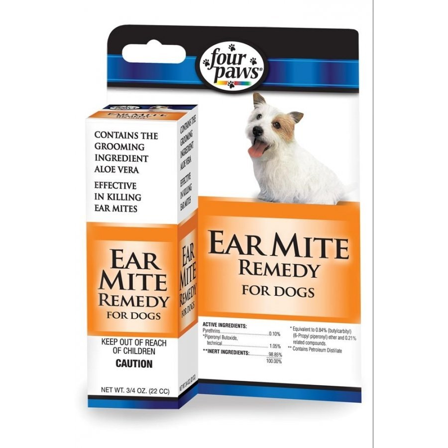 Four Paws Ear Mite Remedy Dogs .75 Oz.