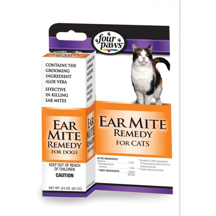 Four Paws Ear Mite Remedy Cats .75 Oz.