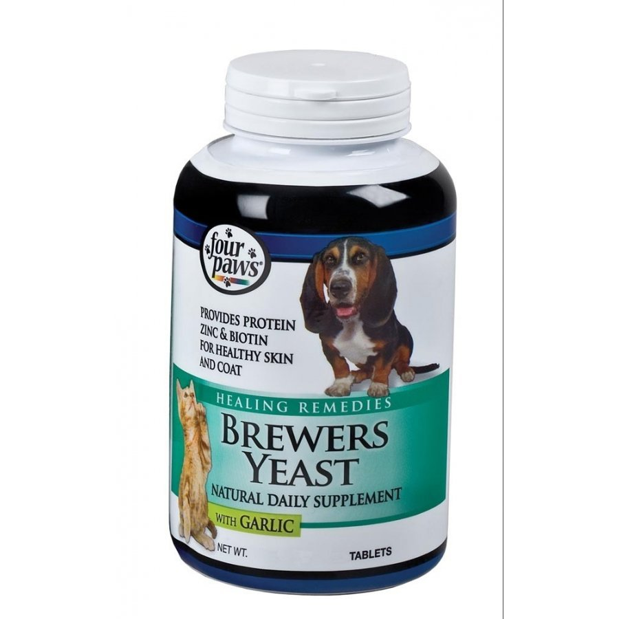Brewers Yeast Dog Supplement With Garlic Four Paws / Tablet Count 500